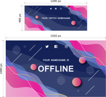 Thumbnail of Twitch Banner 01 template